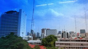 Thailand, Bangkok, 1 August 2014. Looking out the stock video footage