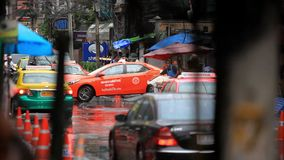 Thailand, Bangkok, 1 August 2014. Road in the city stock footage