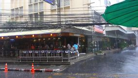Thailand, Bangkok, 1 August 2014. Road and stock footage
