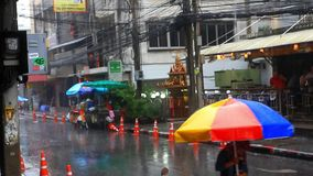 Thailand, Bangkok, 1 August 2014. Road and stock video footage