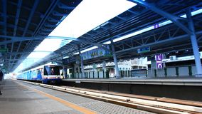Thailand, Bangkok, 1 August 2014. Sky Train stock video footage