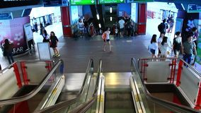 Thailand, Bangkok, 1 August 2014. Subway station stock video