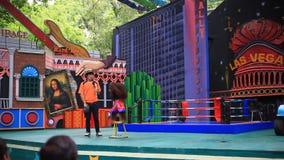 THAILAND, BANGKOK, 5 AUGUSTUS 2014, geklede gorilla stock footage
