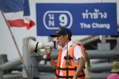 THAILAND BANGKOK CHAO PHRAYA RIVER SÄKERHET Royaltyfri Fotografi
