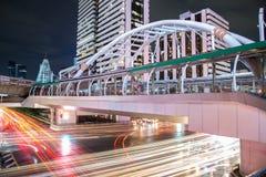 Thailand - Bangkok Chong Nonsi skywalk på bangkok skytrain Royaltyfri Fotografi