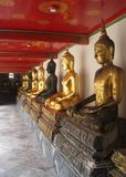 Thailand Bangkok city panorama asian culture and golden Buddha sculptures Stock Images