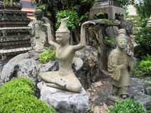 Thailand Bangkok city panorama asian culture and sculptures Stock Image