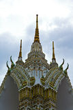 thailand  in  bangkok    colors roof wat  palaces   asia  mosai Stock Images