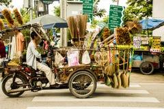 Thailand Bangkok cycle Dealer houseware merchant Stock Image
