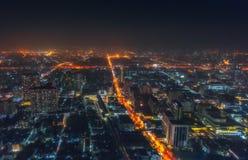 THAILAND, BANGKOK. Evening Bangkok. View from hotel Baiyoke Suite Stock Photos