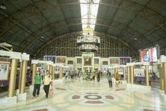 THAILAND BANGKOK HUA LAMPHONG JÄRNVÄGSSTATION Royaltyfria Foton