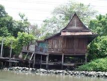 Thailand Bangkok - Klong-Seite Haus Lizenzfreie Stockfotografie