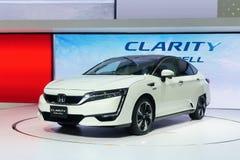 Thailand, Bangkok - 31 Maart 2018: Nieuwe Honda-Duidelijkheids witte colo stock foto
