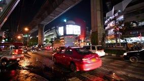 Thailand, Bangkok, Nana Plaza by night.
