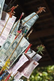 Thailand, Bangkok, ocal geld (Baht) Stock Afbeelding