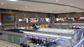 The airport terminal in Bangkok. THAILAND, BANGKOK, 28 OCT 2016, Interior concourse Don Mueang. The airport terminal in Bangkok stock video
