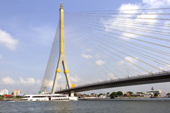 Thailand, Bangkok: Rama VIII Bridge Stock Images