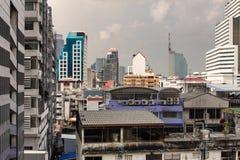 Thailand Bangkok Skyline Skyscrapers Buildings. Big And Small Royalty Free Stock Image
