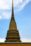 Thailand  bangkok in    temple abstract cross colors roof Royalty Free Stock Photo