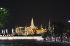Thailand Bangkok Temple of the Emerald Buddha. Thailand Bangkok night palace, temple, travel asia architecture Stock Photography