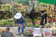 THAILAND BANGKOK THEWET FLOWERMARKET Royaltyfri Bild
