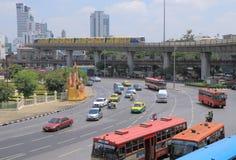 Thailand Bangkok trafik Royaltyfri Foto
