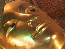 Thailand, Bangkok: Wat Pho temple. Lying Buddha (large format photography stock image