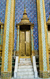 Thailand Bangkok Wat Pho Temple golden door Stock Photos
