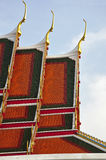Thailand Bangkok Wat Pho Temple roofs Stock Photo