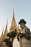 Thailand. Bangkok. Wat Po bij een zonsopgang royalty-vrije stock fotografie