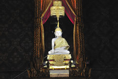 Thailand Bangkok Wat Rachanada white Buddha Royalty Free Stock Photos