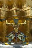 Thailand, Bangkok, welches Phra Kaew, Statue Krieger Stockfoto