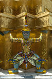 Thailand, Bangkok, Welke Phra Kaew, standbeeldstrijder Stock Foto