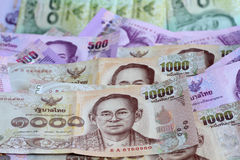 Thailand bank note. Selective focus point Stock Photos