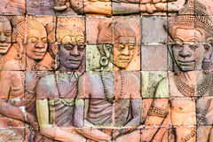 Thailand bas relief. Bas relief photographied on a Buddhist temple in Chiang Mai, Thailand Stock Images