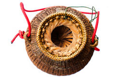 Thailand basket. Basket is bamboo for fishry,handmade Stock Photography