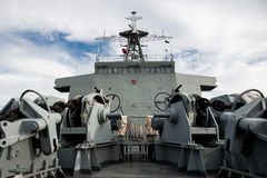 Thailand battleship. The Commanding room on the battleship of thailand Royalty Free Stock Photos