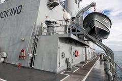 Thailand battleship. The lifeboat on the battleship of thailand Royalty Free Stock Image