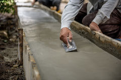 Thailand-Bauarbeiter vergipsten Stockfotografie