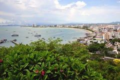 Thailand the bay of Pattaya stock image