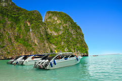 Thailand beach. Beautiful beach in  maya bay, phuket, Thailand Stock Image