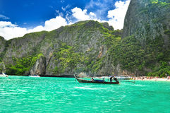 Thailand beach. Beautiful beach in  maya bay, phuket, Thailand Royalty Free Stock Photo