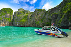 Thailand beach. Beautiful beach in  maya bay, phuket, Thailand Royalty Free Stock Photography