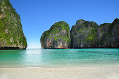 Thailand beach. Beautiful beach in  phi phi island, phuket, Thailand Stock Photo