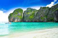 Thailand beach. Beautiful beach in  phi phi island, phuket, Thailand Royalty Free Stock Images