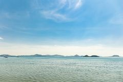Thailand beach with blue sky royalty free stock images