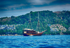 Thailand beach and boat Stock Photography