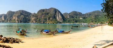 Thailand Beach Panorama Royalty Free Stock Images