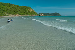 Thailand beach in springtime. Life on a beach of thailand in my vacation Stock Photo