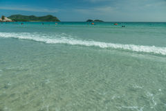 Thailand beach in springtime. Life on a beach of thailand in my vacation Stock Photography